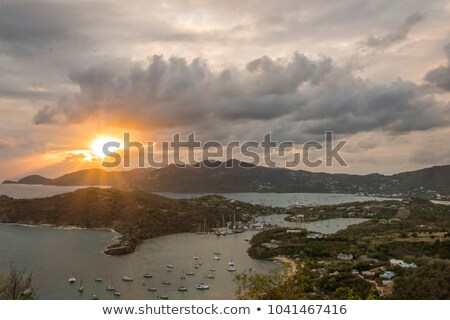 View of English Harbour from Shirley Heights at Sunset. Stock photo © brianguest