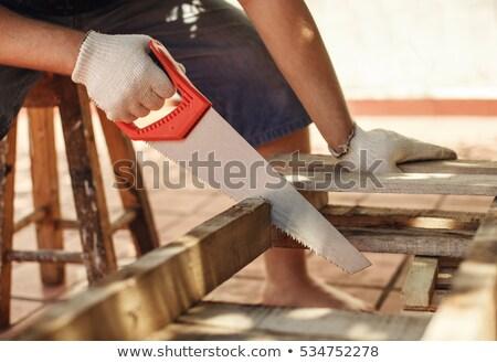 handyman with hand saw stock photo © photography33