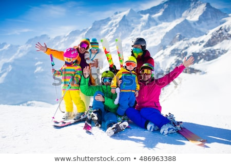 grandfather and little girl in ski holidays stock photo © photography33