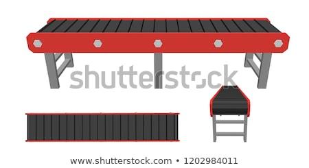 gordel · een · Open · vak · Blauw · staal - stockfoto © johanh