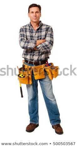 Full length carpenter Stock photo © photography33