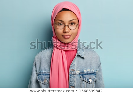 Women look over spectacles close up Stock photo © pzaxe