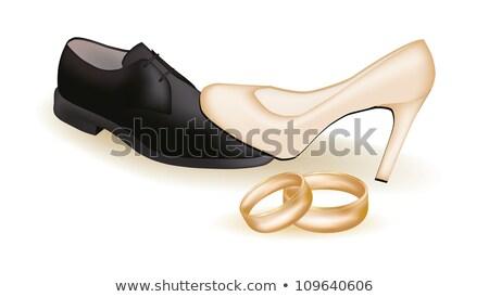 casal · conflito · família · cara · homem · retrato - foto stock © carodi