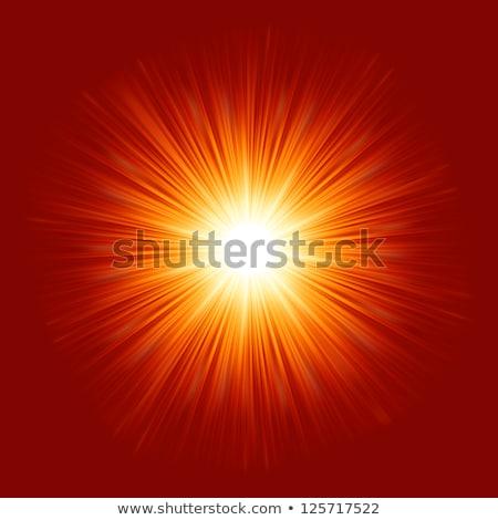 星 · バースト · 赤 · 黄色 · 火災 · eps - ストックフォト © beholdereye