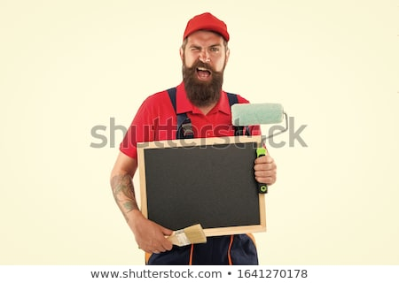Decorator with a blank board Stock photo © photography33