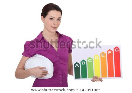 craftswoman holding energy consumption chart Stock photo © photography33