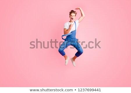 Biegun skoki przypadkowy młodych elektryczne Zdjęcia stock © feedough