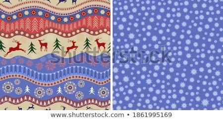 シームレス · 冬 · パターン · ベクトル · 雪 - ストックフォト © angelp