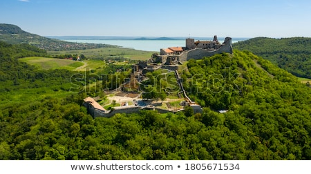 View of the castle Szigliget Stock photo © jakatics