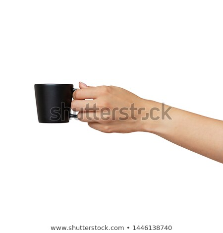 man holding small coffee stock photo © photography33