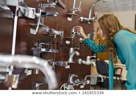 encanamento · aprendiz · oficina · mão · trabalhar · teclado - foto stock © photography33