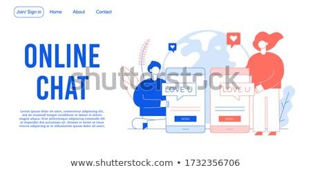 Nyilatkozat szeretet terv absztrakt háttér felirat Stock fotó © Kotenko