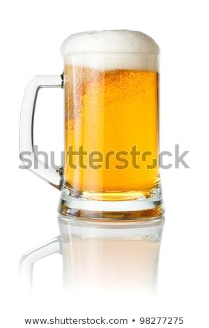 большой · кренделек · стекла · пива · продовольствие - Сток-фото © givaga