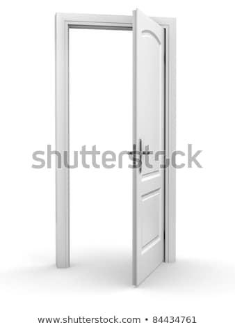 Open deur witte muur licht deur achtergrond Stockfoto © dacasdo