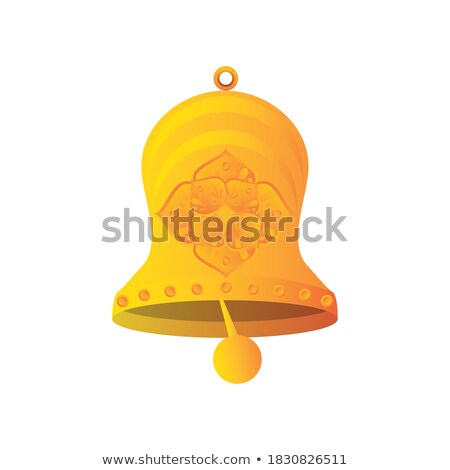 Bell in details: metal golden ornament. Stock photo © kyolshin