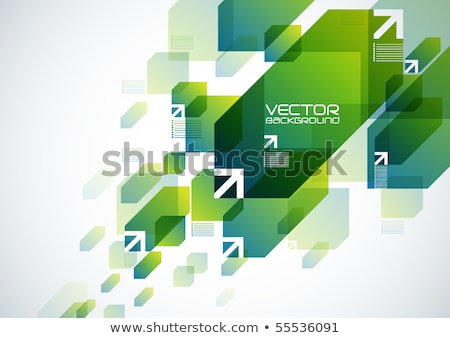 abstract green web background with arrow stock photo © rioillustrator