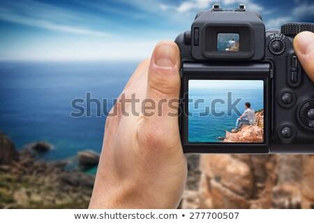 Shooting with DSLR camera Stock photo © photosebia