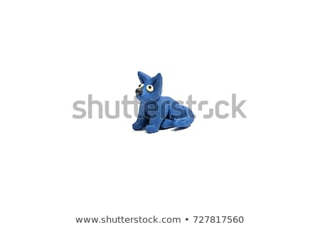 Plasticine handmade dog isolated on white Stock photo © lunamarina