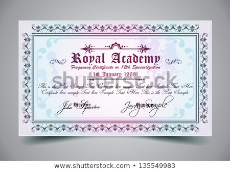 Certificate for differrent with a lot of details  Stock photo © DavidArts