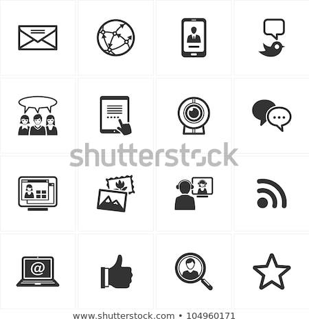 tablet · tweet · bolla · vettore · sfondo - foto d'archivio © timurock