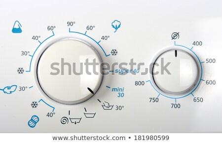 Wasmachine bedieningspaneel moderne timer opties Stockfoto © ABBPhoto