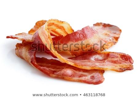 Three cuts of bacon Closeup Stock photo © milsiart