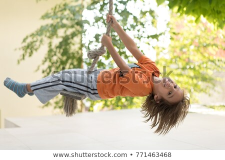 boy with long hair laughing Stock photo © courtyardpix