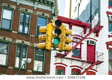 Verkeer regeling amerika verkeerslichten auto wolken Stockfoto © meinzahn
