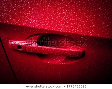 Stok fotoğraf: Damla · su · kırmızı · renk · Metal · araba