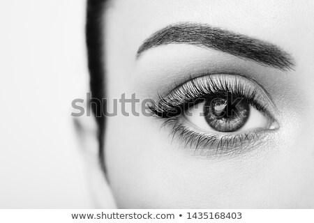 Moda model luksusowe ekstremalnych makijaż strony Zdjęcia stock © Geribody