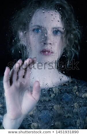 Sad waiting woman Stock photo © Novic