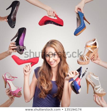 kadın · ayakkabı · çanta · beyaz · iş - stok fotoğraf © konradbak