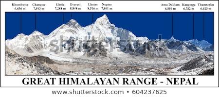 superior · rocas · vista · senderismo · Nepal - foto stock © arsgera