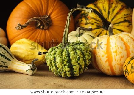 mini · narancs · sütőtök · tökök · fa · deszka · ősz - stock fotó © natika