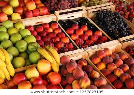 красочный плодов рынке фотография свежие яркий Сток-фото © 1Tomm