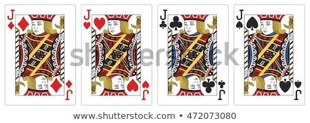 Pikk izolált fehér fekete siker kártyák Stock fotó © gemenacom