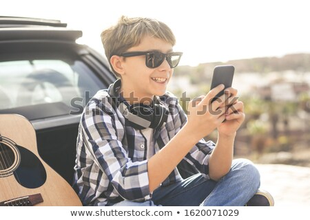 happiness in search string on smartphone stock photo © tashatuvango