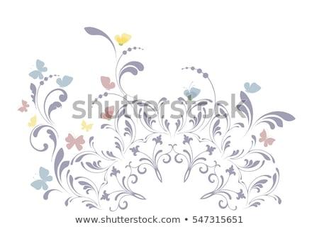 ストックフォト: シームレス · 蝶 · サークル · 実例 · テクスチャ