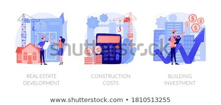 Budget deal Blauw vector icon ontwerp Stockfoto © rizwanali3d