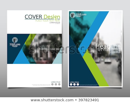 flat design brochure template stock photo © helenstock