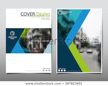 Ontwerp brochure sjabloon eps 10 business Stockfoto © HelenStock
