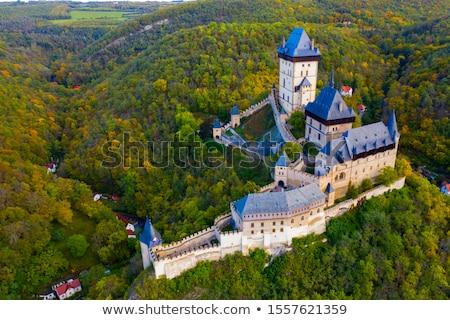 Castello bella autunno colorato panorama sole Foto d'archivio © ondrej83