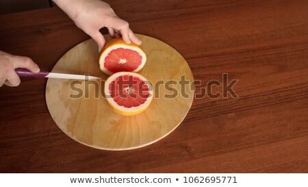 greyfurt · bıçak · keskin · yalıtılmış · beyaz · turuncu - stok fotoğraf © vtls