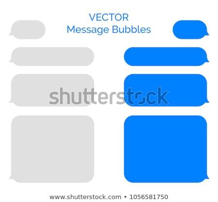 Social chatear burbuja vector metal estilo Internet Foto stock © Pinnacleanimates
