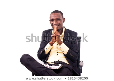 Portrait of a businessman with his hands joined Stock photo © wavebreak_media