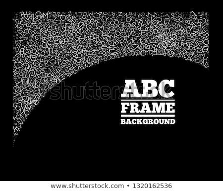 çerçeve harfler farklı can kullanılmış dizayn Stok fotoğraf © m_pavlov