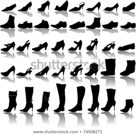Zapato gráfico negro mujeres moda deporte Foto stock © shawlinmohd