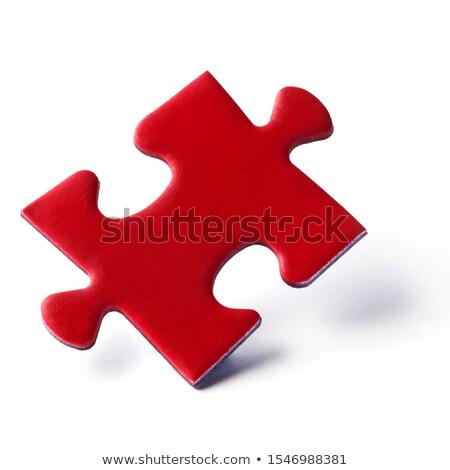 Logika piros puzzle fehér üzlet háttér Stock fotó © tashatuvango