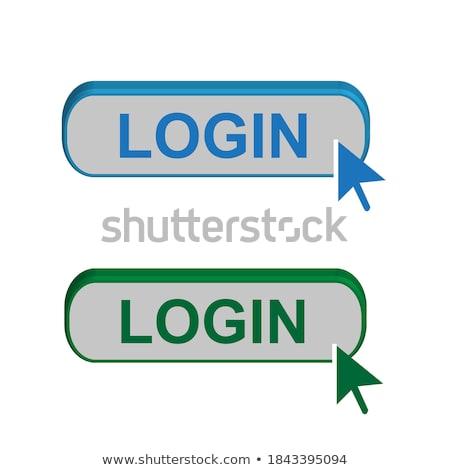 Login arrow illustrazione bianco computer internet Foto d'archivio © get4net