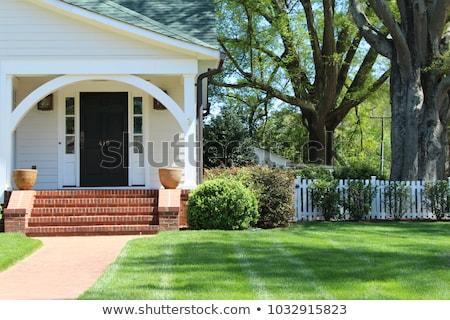 Zdjęcia stock: Wiejski · domu · trawy · budynku · krajobraz · domu